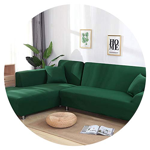 Grey Color Elastic Couch Sofa Cover Loveseat Cover Sofa Covers for Living Room Sectional Sofa Slipcover Armchair Furniture Cover,Dark Green,3-Seater 190-230cm
