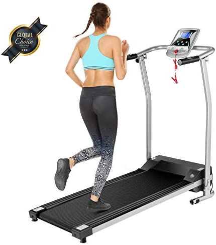 OppsDecor Folding Treadmill for Home, Electric Treadmills with LCD Display Exercise Fitness Trainer Walking Running Machine