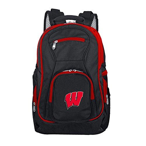 Denco NCAA Wisconsin Badgers Colored Trim Premium Laptop (Badger Airline)