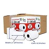 (100 Rolls) 2 1/4 x 85' First Data FD130 FD50 FD400 FD55 FD100Ti Thermal Paper (100 Rolls) BPA Free