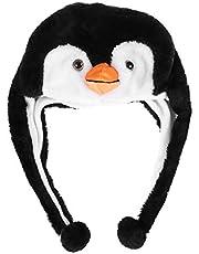 BESTOYARD Pluche Dierenhoed Pinguïn Oorflap Cap Winter Ski Aviator Stijl Capuchon Voor Kinderen Volwassenen