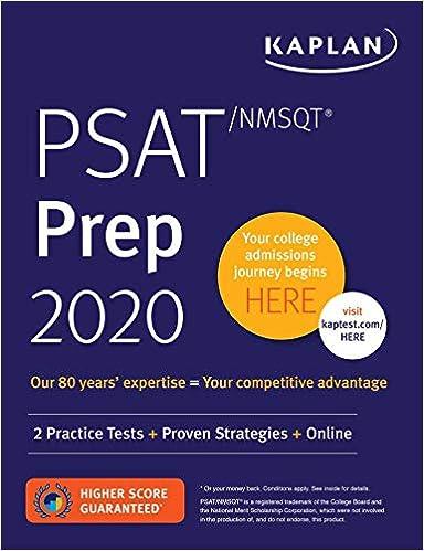 Best Psat Prep Book 2020 Amazon.com: PSAT/NMSQT Prep 2020: 2 Practice Tests + Proven