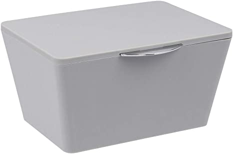 Wenko Aufbewahrungsbox Mit Deckel Brasil Grau Aufbewahrungskorb Badkorb Mit Deckel Kunststoff Tpe 19 X 10 X 15 5 Cm Grau Amazon De Kuche Haushalt