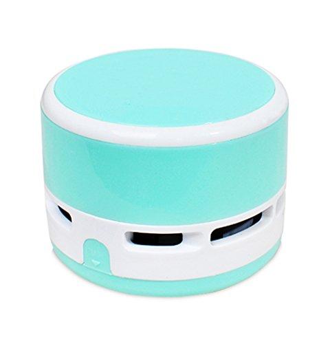 Hillento Mini Aspirador, Corless de Mano de Limpieza portatil multifuncion de sobremesa miga de Escritorio para el Teclado barredora Oficina en casa y el Coche, Azul