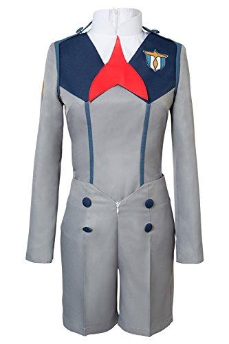 Sinastar Darling in The FRANXX Hiro Cosplay Costume Full Set School Uniform Suit ()
