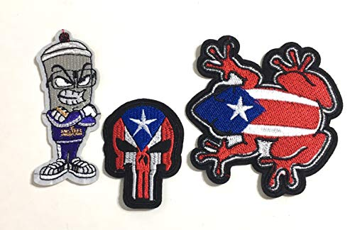 (Puerto Rican Flag 3pc Patch Edition Limited Edition Boricua Style Patches)