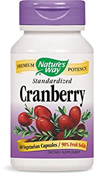 Nature's Way Standardized Cranberry; 90% Fruit Solids per serving; Gluten Free; Vegetarian; 60 Vegetarian Capsules