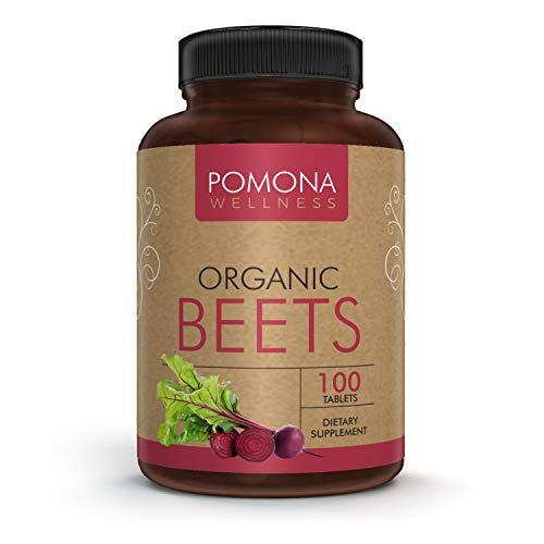 POMONA Wellness Beet Supplement, Fiber & Minerals, Regulate Blood Pressure, Vegetable Vitamin, Gluten-Free, Non-GMO, Vegan, Bottle of 100 Tablets