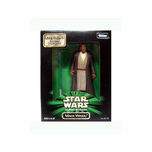 Star Wars: The Power of the Force Episode I Sneak Preview Mace Windu 4 inch Action Figure