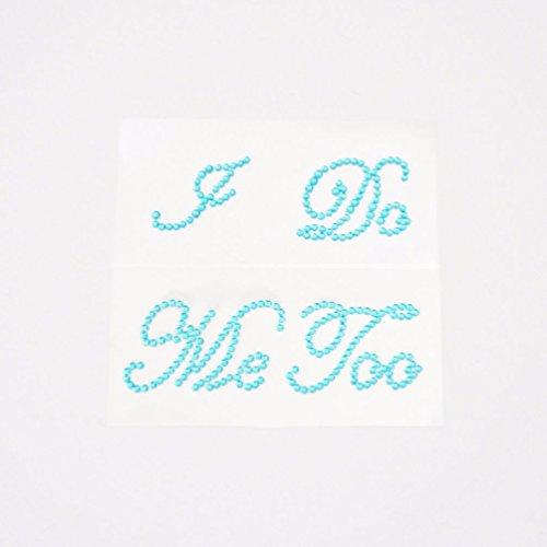 - Dorigan home series I Do And Me Too Blue Shoe Stickers Wedding Bride And Groom Shoe Sticker