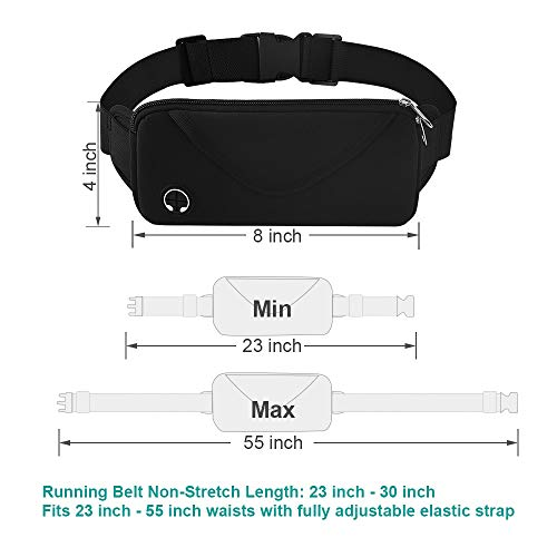 Aisver Fanny Packs Waist Bag for Women & Men, Waterproof Lightweight Phone Holder Running Belt Compatible for iPhone X 8 7 Plus, Galaxy S9 S8 S7, Adjustable Strap for Gym Traveling Hiking Cycling by Aisver (Image #5)