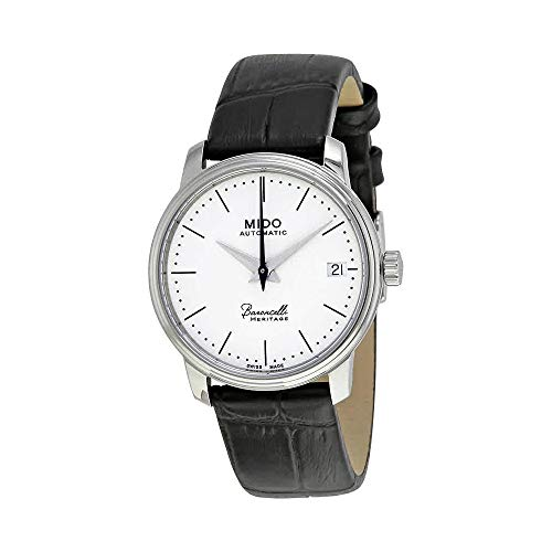 Mido Baroncelli Heritage White Dial Leather Strap Ladies Watch M0272071601000