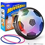 Kids Toy Soccer Air Power Disc Olycism Gift Boy girl Training Football Flash LED Lights Sport Children Novelty Toys Hover Disk Ball for Indoor and Outdoor parent-child interaction