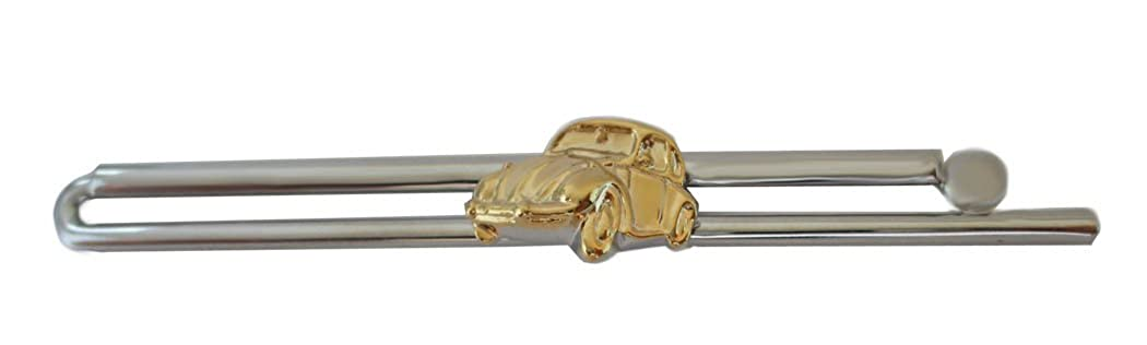 Auto Tie Clip Two Colour Polished and Gift Box Pick NM0645