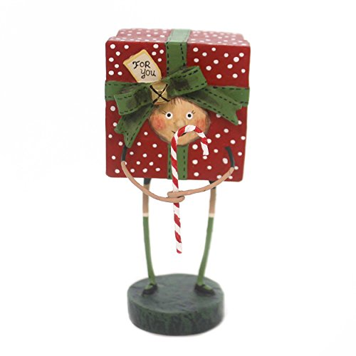 Lori Mitchell ALL WRAPPED UP Polyresin Candy Cane 11090