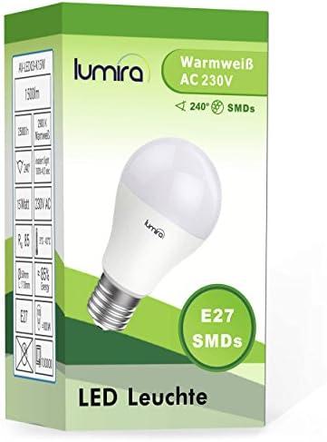 10 x Baufassung Lampenfassung Renovierfassung E27 schwarz 10 x Leuchtmittel LED 9W = 60W E27 matt warmwei/ß