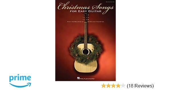 amazoncom christmas songs for easy guitar 9780793519606 hal leonard corp books - Easy Christmas Songs Guitar
