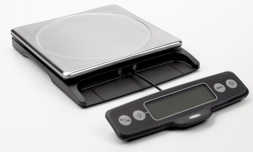 OXO Good Grips 11 Pound Food Scale with Pull-Out Display, Stainless Steel