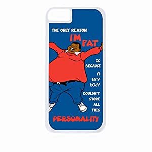 """""""The Only Reason I'm Fat, is Because A Tiny Body Couldn't Store All This Personality. """"- Hard White Plastic Snap - On Case-Apple Iphone 6 Only - Great Quality!"""