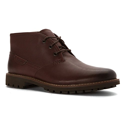 [Clarks Men's Montacute Duke Chestnut Leather Boot 10.5 D (M)] (Mens Clarks Casual Boots)