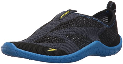 Speedo Kids' Surf Knit Athletic Water Skate Shoe, Navy/Blue, 4 D US Big Kid