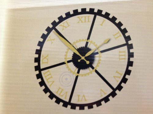 Die Cuts With A View Vinyl Clock Gears, 19-1/2-inches by 19-1/2-inches