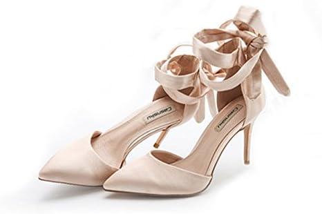 Scarpe Sposa Color Seta.8cm Scarpe Da Sposa Con Tacco Alto In Raso Di Seta Estiva