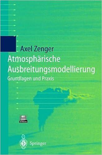 Book Atmosphärische Ausbreitungsmodellierung