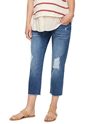 DL1961 Secret Fit Belly Riley Crop Maternity Boyfriend Jeans (Maternity Crop Pants Cuffed)