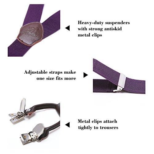 6932ae7aa De bajo costo Tirantes Hombre Elásticos Ancho seis clips extra fuerte  totalmente adjustable seis clips KANGDAI