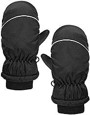 XXBR Toddler Mittens Boys Girls Ski Gloves Rabbit Camo Panda Waterproof Warm Snow for Little Kids Outdoor Acti