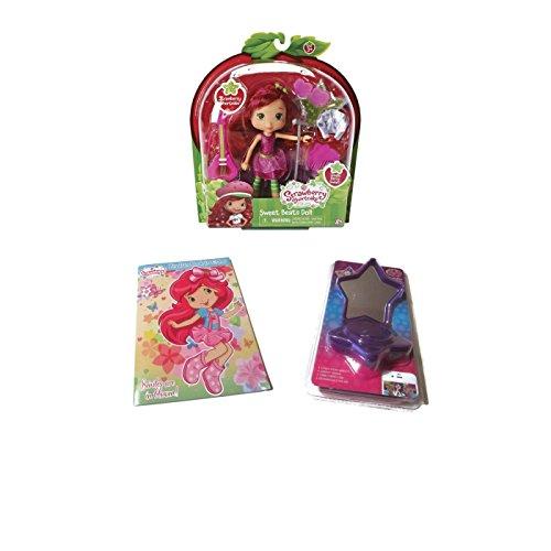 Strawberry Shortcake Sweet Beats Rockin' Bundle - 1 x Strawberry Shortcake Sweet Beats Doll Set, Coloring Book & Compact Star Speaker - (3 Items) (Sweet Beats Strawberry Shortcake)