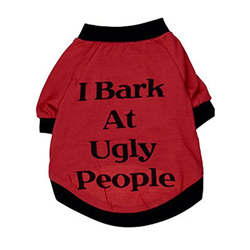 Charberry Bark at Ugly People Dog Cats Clothes T Shirt Sweatshirt for Pets (XL, (Scooby Doo Ears And Tail)