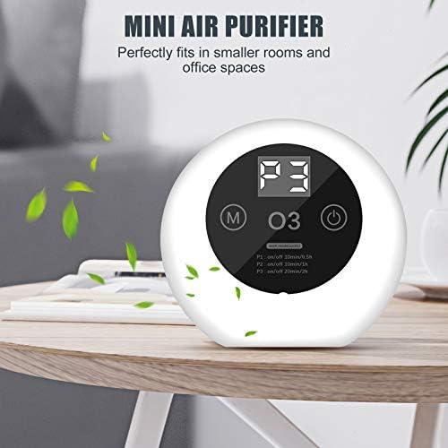 ACADGQ Purificateur d'Air Portable,Purificateur d'Air Anion,Ultra Silencieux Air Ioniseur,Anti-bactérienne Taux 99%, Purificateur Ioniseur d'air Économie d'énergie Affichage à LED,Pour Maison Bureau