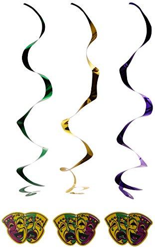 Mardi Gras Whirls   (5/Pkg) ()