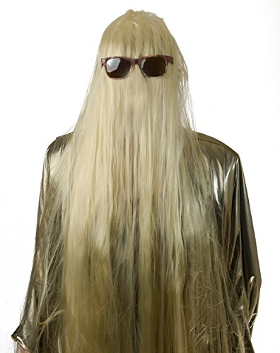 Cousin It Wig | 5 Foot Long Blonde Cousin Itt Wig, Addams Family Wig, Hairy Monster Wig Adults, Kids