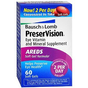 B&L Preservision Areds Sf Size 60ct Bausch & Lomb Preservision Areds Eye Vitamin And Mineral Supplement