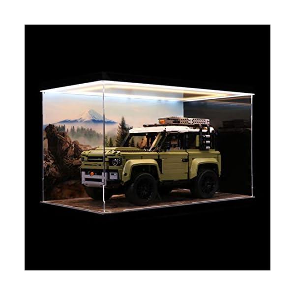 TONGJI Acrylic Display Case con la Luce Compatibile con Lego Technic 42110 Land Rover Defender - Acrilico Vetrina (Non… 2 spesavip
