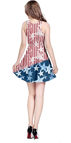 Pearl Cosplay Sleeveless Dress Costume 5XL Day CowCow Party States XS Flag Jewery American Diamond National Stars Womens 0UWwR