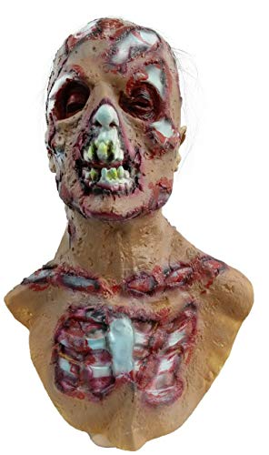 ZhangHD Walking Dead Full Head Mask, Resident Evil Monster Mask, Zombie Costume Party Rubber Latex Mask for Halloween (Walking Dead D)