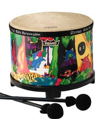 Remo KD-5080-01 Kids Percussion Floor Tom Drum - Fabric Rain Forest, 10""