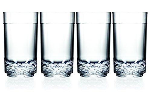 Drinique ELT-TA-CLR-4 Elite Tall Unbreakable Tritan Highball Glasses, 14 oz (Set of 4), Clear by Drinique