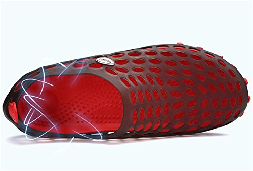 Male sandals breathable beach Baotou hollow Mesh slippers shoes 40 DIh3eK