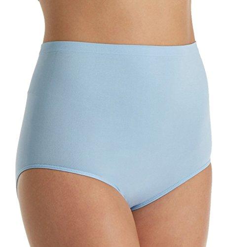 Rhonda Shear Ahh High Waisted Seamless Brief Panty (4230) 1X/Light Blue