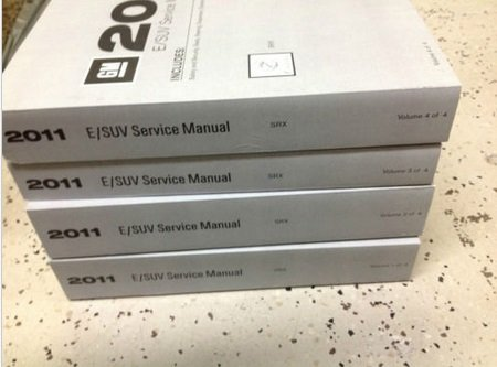 2011 CADILLAC SRX S R X Service Shop Repair Manual SET OEM BRAND NEW 11