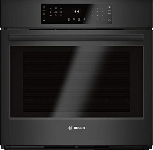 Bosch HBL8463UC 800 Series 30 Inch Black Stainless Steel Electric Single Wall Convection Oven (Black)