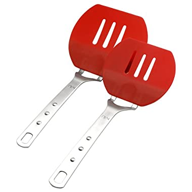 MIU France Set of 2 Red Flexible Pancake Turners, 12-Inch and 13-Inch