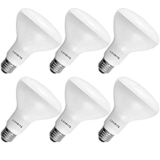 6-Pack BR30 LED Bulb, Luxrite, 65W Equivalent, 3500K Natural White, Dimmable, 650 Lumens, LED Flood Light Bulbs, 9W, E26 Medium Base, Damp Rated, Indoor/Outdoor - Living Room, Kitchen, and Recessed