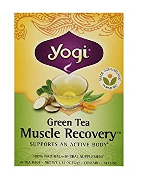 Yogi Tea,16 Tea Bags (Muscle Recovery, 1 Pack) (Recovery Green Tea Muscle)