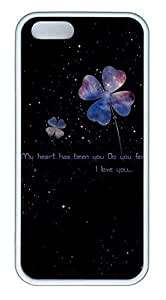 Star Clover Cover Case Skin for iPhone 5 5S Soft TPU White